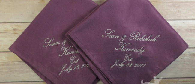Sean & Rebekah Wedding Napkins