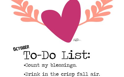 October To-Do List + the winner is…