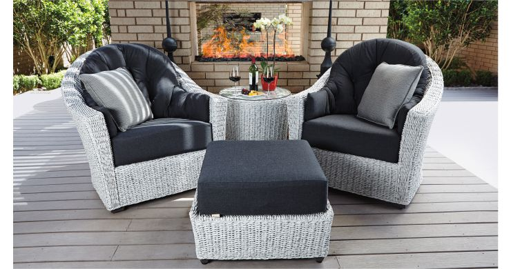 cozy with patio conversation groupings