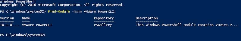 Find-Module VMware.PowerCLI