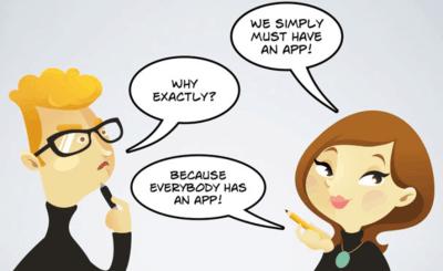 do you need an app cartoon