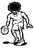Basketballspieler Sport Illustration