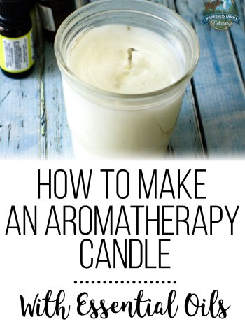 How To Make An Aromatherapy Candle With Essential Oils   Get the same effect of essential oil diffusion without the diffuser! An aromatherapy candle with essential oils is a great way to scent your home naturally!   WildernessFamilyNaturals.com