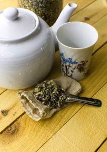 DIY Herbal Tea Blend For Relaxation | Fall is in the air... Crisp, falling leaves and shorter days with cool nights are all relaxing. Bonfires, sweatshirts, and warm drinks are on the list and are enjoyed often. Making an a DIY herbal tea blend for relaxation on a cool evening seems to be in order here. | WildernessFamilyNaturals.com