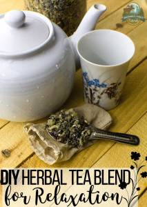 DIY Herbal Tea Blend For Relaxation