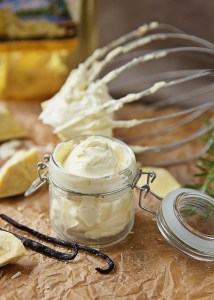 Whipped Body Butter (with cacao butter!) | It is amazingly simple to turn hard chunks of raw cacao butter into a fluffy and silky whipped body butter that sinks into skin in a matter of minutes. Using cacao butter for skin will reap you 2 benefits: your skin will be soft and silky, and you'll also smell like irresistible chocolate! | WildernessFamilyNaturals.com