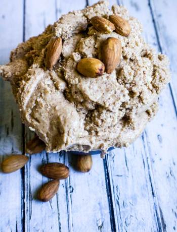 How To Make Almond Butter {and why you should!} | Due to our child's severe peanut allergy, we wondered if we'd ever be able to enjoy PB&J's again. Then we discovered almond butter... but $10 for 12 ounces? Ouch on the budget. Thankfully, homemade almond butter is super easy! | WildernessFamilyNaturals.com