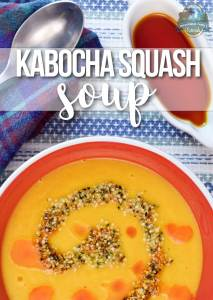 Kabocha Squash Soup | Kabocha squash soup is full of veggies and healthy fat. It is dairy-free, gluten-free, grain-free, Paleo, and vegan. It is the quintessential fall soup! | WildernessFamilyNaturals.com