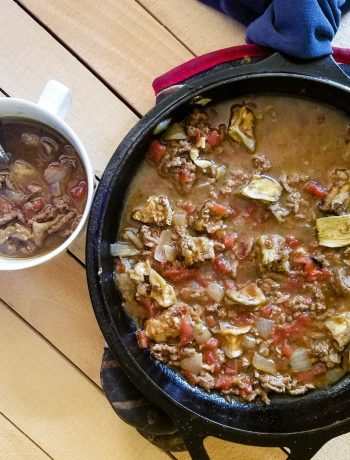 Paleo Eggplant Chili | When the weather changes, and the coldness of winter begins, you want a meal that warms from the inside out. One that is hearty, filling, and nutritious. A meal that is quick and easy to make. You want this Paleo eggplant chili. | WildernessFamilyNaturals.com