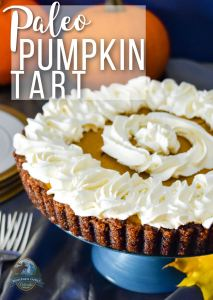 Paleo Pumpkin Tart | Full of holiday spice and cheer, this Paleo Pumpkin Tart tastes so good, no one will notice or care that it's practically health food! Grain-free, gluten-free, and dairy-free, this healthy holiday dessert doesn't lack anything but the bad stuff! | WildernessFamilyNaturals.com
