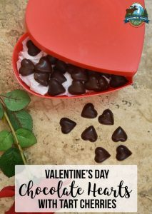 Valentine's Day Chocolate Hearts With Tart Cherries | These homemade chocolate hearts with tart cherries are a guilt-free and nutritious treat to show anyone some extra love this Valentine's Day -- no fancy chocolatier skills required! | WildernessFamilyNaturals.com