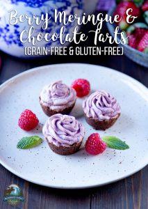 Berry Meringue and Chocolate Tarts (grain-free & gluten-free)