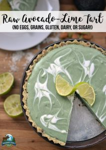 Raw Avocado-Lime Tart {no eggs, grains, gluten, dairy, or sugar!}