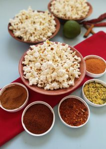 5 Better-Than-The-Movies Popcorn Seasoning Blends   Homemade popcorn is cheap, easy, and a really fun snack for movie night, road trips, parties, or even during the work day. These 5 tasty popcorn seasoning blends will take your buttered popcorn up a notch -- and you won't find anything like them at the movies!   WildernessFamilyNaturals.com