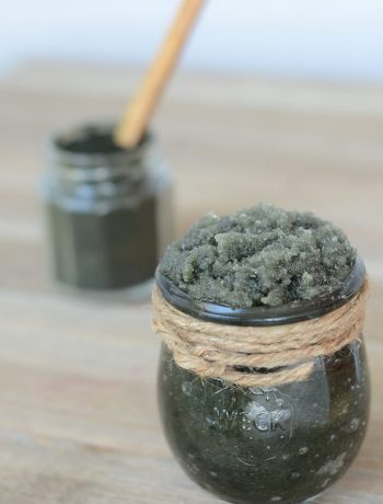 Antioxidant-Rich Spirulina Body Scrub | With skin-nourishing antioxidants, this recipe makes an invigorating body scrub that leaves skin feeling fresh and looking vibrant. | WildernessFamilyNaturals.com