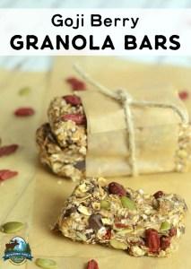 Goji Berry Granola Bars