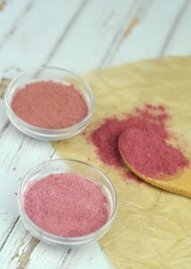 How To Make Natural Blush With Freeze-Dried Berries | Finding natural, non-toxic makeup options is getting easier, but many are rather expensive. You can create your own DIY makeup that's actually edible! Learn how to make natural blush with freeze-dried berries (plus go homemade with your entire makeup bag) here! | WildernessFamilyNaturals.com