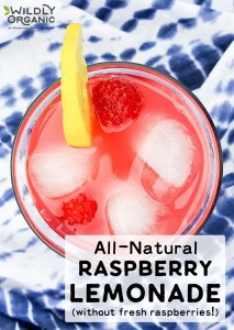 All-Natural Raspberry Lemonade (without fresh raspberries!)