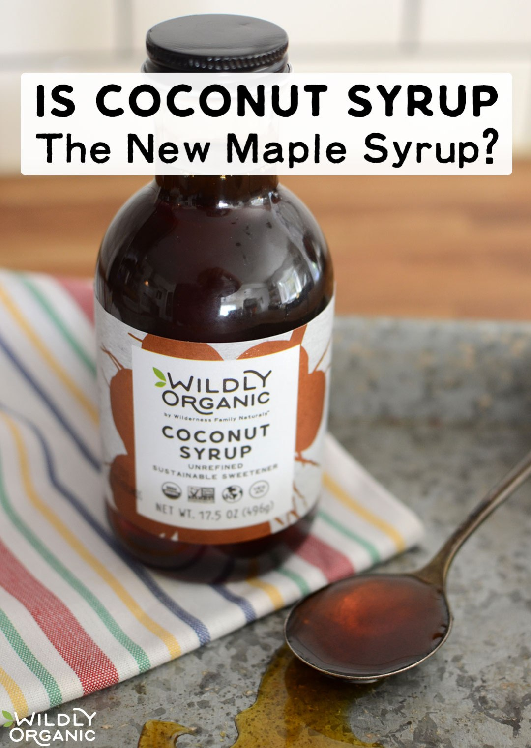 Is Coconut Syrup The New Maple Syrup? | Is coconut syrup the new maple syrup? Learn all about this lower-glycemic, mineral-rich sweetener that combines best of maple syrup and molasses, plus 4 reasons why you should add it to your whole foods pantry! | WildlyOrganic.com