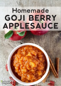 Homemade Goji Berry Applesauce