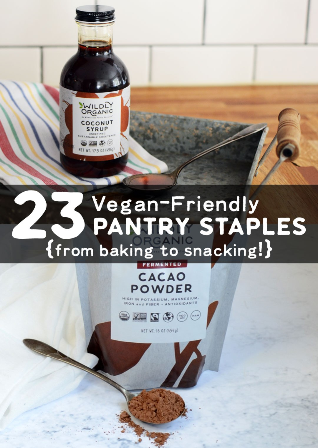 A recent report reveals that 6% of Americans now identify as vegan. There's no need to get too fancy when it comes to stocking your pantry with vegan-friendly alternatives though. To make life easier, here's an easy reference list of Wildly Organic's vegan-friendly pantry staples -- everything you need for healthy, vegan recipes from baking to snacking!