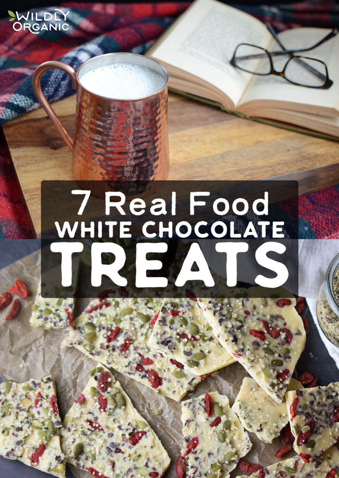 These Real Food White Chocolate Treats prove that white chocolate is no longer just heavily sweetened cubes of melt-able candy found at your local supermarket. Rather than overshadowing its benefits with processed sugar, these nourishing white chocolate recipes allow cacao butter's benefits to shine. So, whether you prefer to drink your white chocolate or serve it for dessert with coffee, you're sure to find a healthier white chocolate treat here!