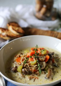 Pressure Cooker Wild Rice & Mushroom Soup {in less than 30 minutes!}