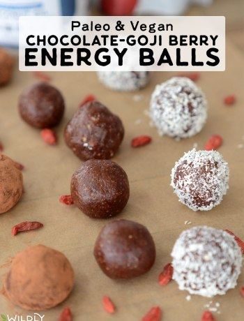 Packed with nourishing ingredients, these paleo and Vegan Chocolate-Goji Energy Balls are the perfect afternoon pick-me-up. Full of flavor and naturally sweet, they satisfy a sugar craving, while providing a generous amount of dietary fiber and healthy fat to give you sustained energy and a balanced mood.
