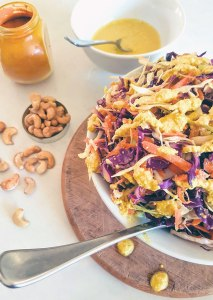 As we near summer's grilling, BBQ, and picnic season, you need a yummy and healthy slaw to complement your outdoor meals. You need this dairy-free, vegan, Paleo Creamy Cashew Turmeric Slaw with the benefits of turmeric!