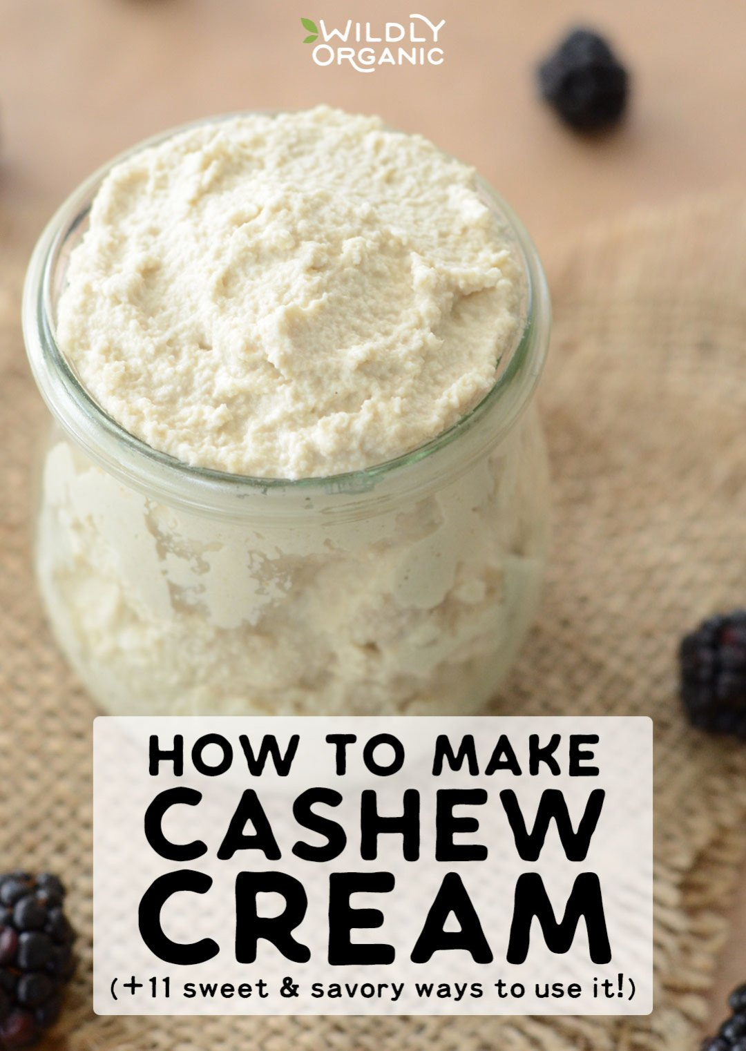 Want something creamy but need to avoid dairy? This cashew cream is the perfect addition to your dairy-free real food repertoire. Learn how to make cashew cream, then get 11 sweet and savory ideas for using it in your healthy, dairy-free or vegan dishes!