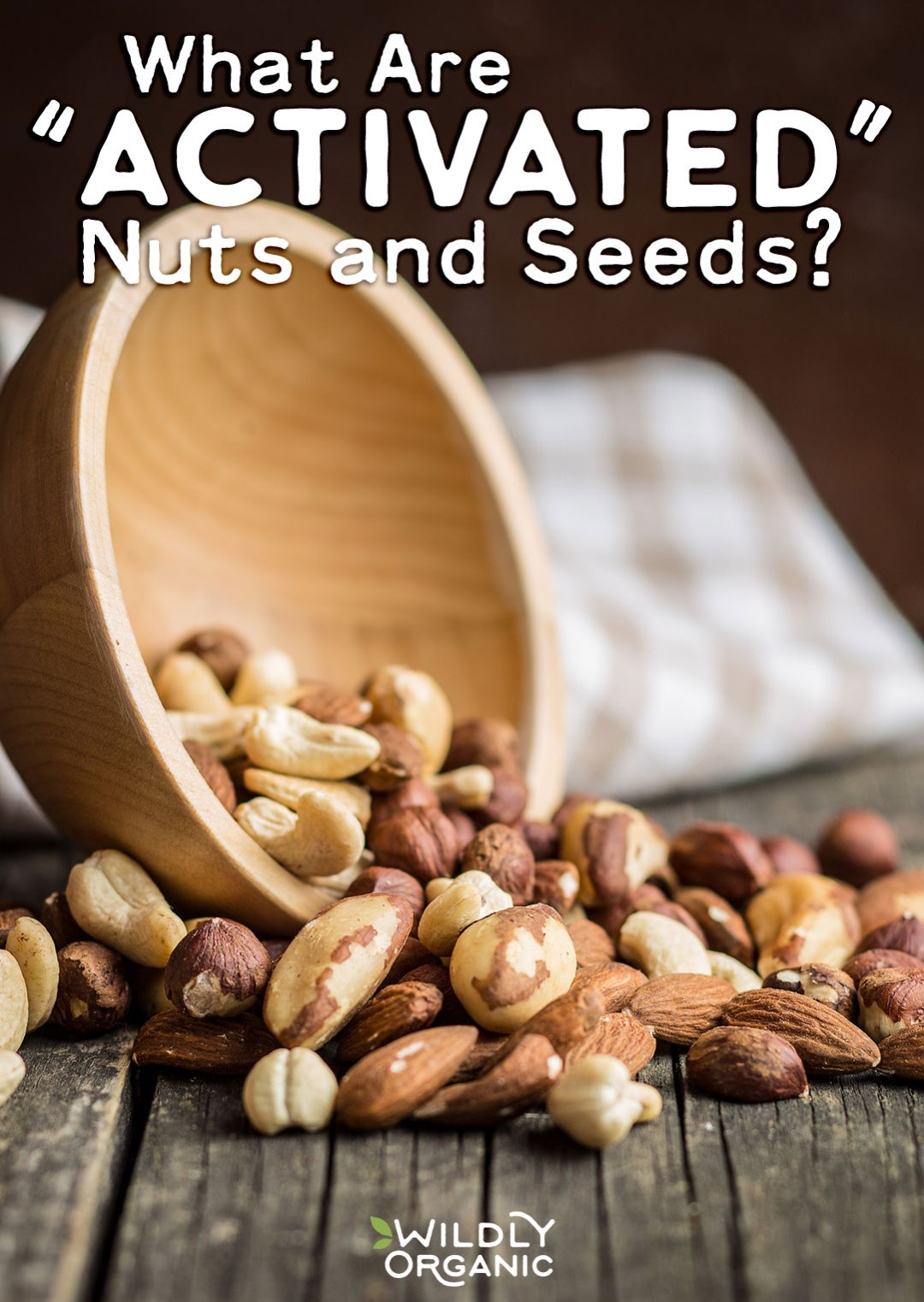 """Since plants can't run from predators like animals can, they contain a stealthy compound to protect their seeds so they can survive another generation: phytic acid. Nuts are a high source of phytic acid, unless you know how to """"activate"""" your nuts/seeds. What are """"activated"""" nuts and seeds? Find out here!"""