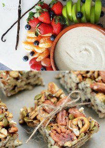 9 Tasty After School Snack Recipes | We're sharing 8 tasty after school snack recipes that your kids will absolutely love. In fact, we bet you'll love them, too!From easy loaded apple slices to superfood popcorn snack bars and even some grain-free cookies and milk cups, we have all of the delicious essentials for after school. You can even make ahead a bunch of these recipes to make snack time that much easier!#afterschool #healthy #snacks #schoolsnack #snacktime #glutenfree