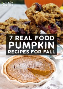 Collage of pumpkin recipes | 7 Real Food Pumpkin Recipes for Fall | We're bringing you 7 pumpkin recipes for fall made from real food ingredients including many gluten-free, paleo, vegan and refined sugar-free options!