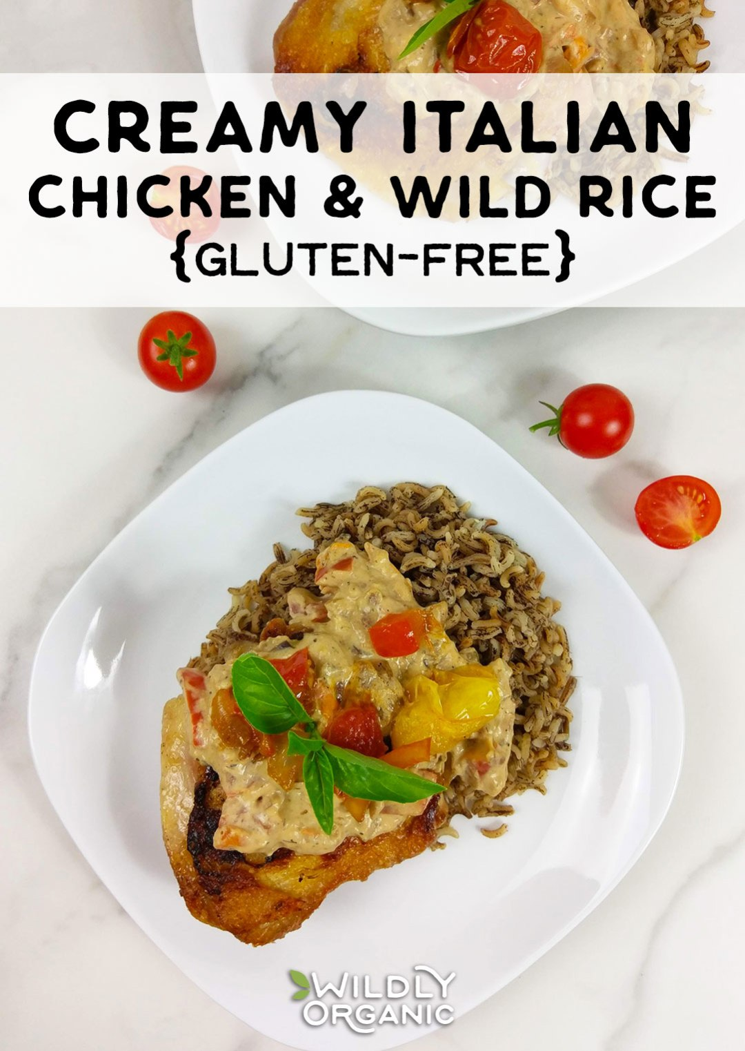 This easy Creamy Italian Chicken and Wild Rice recipe uses Italian dressing for quick and delicious flavor. It's perfect for weeknight meals that the whole family will love. It's ready in just under an hour, too. Use precooked wild rice for an even faster prep time. What's not to love about this gluten-free meal?