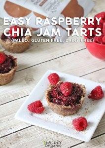 Easy Raspberry Chia Jam Tarts {Paleo, Gluten Free, Dairy Free}