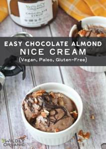 Easy Chocolate Almond Nice Cream {Vegan, Paleo, Gluten-Free}