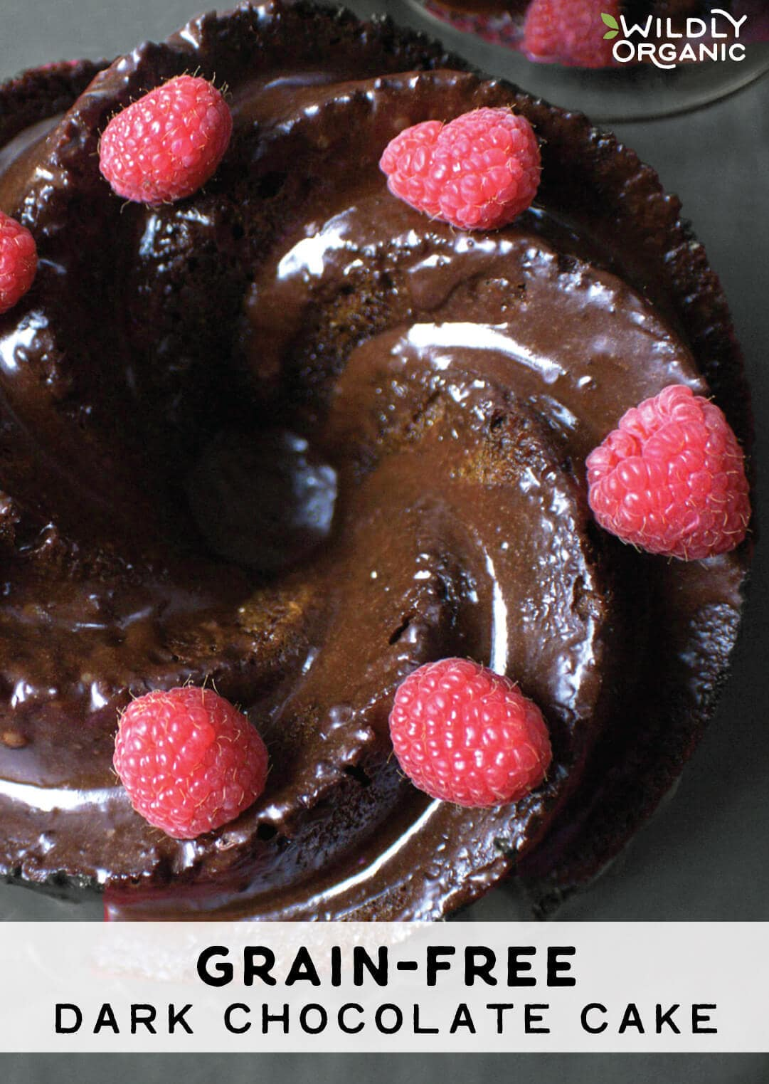 Grain-Free Dark Chocolate Cake- blog post image