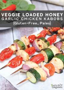 Veggie Loaded Honey Garlic Chicken Kabobs {Gluten-Free, Paleo}
