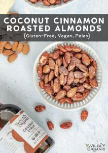 Coconut Cinnamon Roasted Almonds {Gluten-Free, Vegan, Paleo}