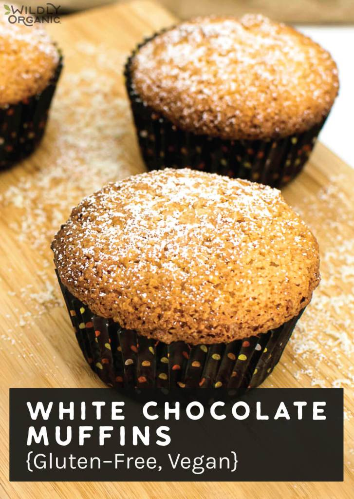White Chocolate Muffins {Gluten-Free, Vegan}