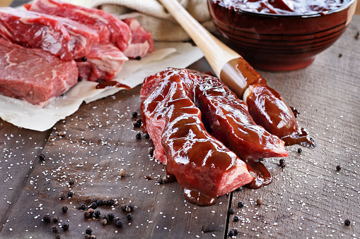 Beef Ribs and Barbecue Sauce