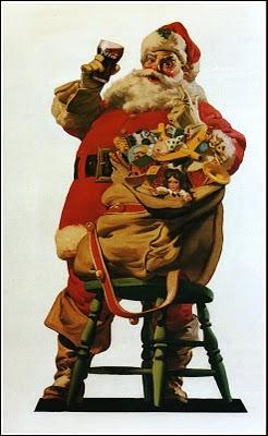 1948 Santa with stool