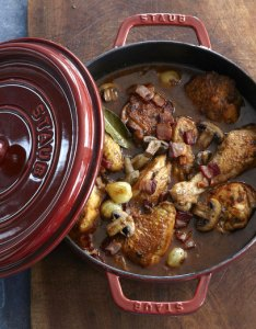 Braised chicken in  dutch oven also slow cooker and conversion guide rh blog williams sonoma