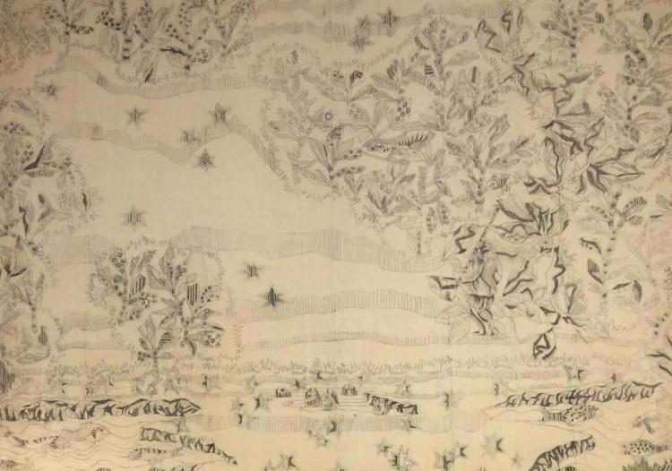 carton numéroté, Jean Lurçat, Cité de la tapisserie, Aubusson