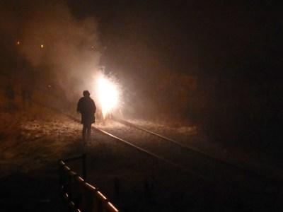 Feuerwerk an der Ferdinand-Freiligrath-Str. in Freital
