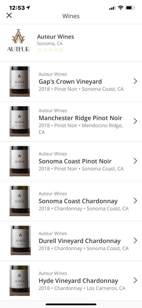 Auteur Wines - Wine Routes