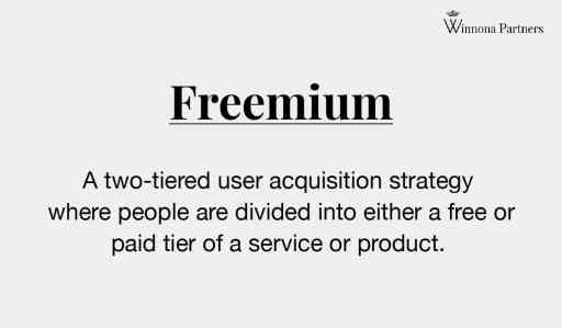 Freemium model definition. What is the Freemium model? Freemium is a two-tiered user acquisition strategy where people are divided into either a free or paid tier of service or product.