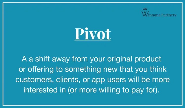 What is a tech pivot? Tech Startup pivot definition