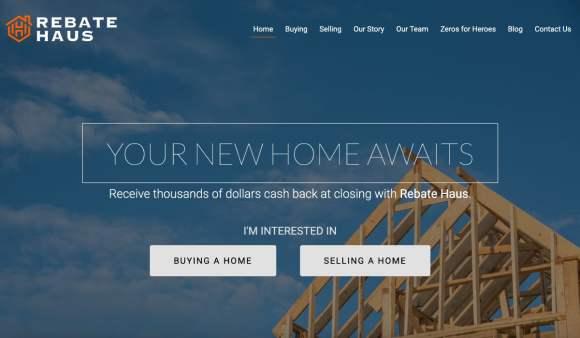 Rebate Haus San Antonio Website landing page design