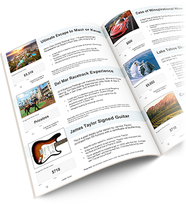 Build Your Own Charity Auction Catalog TEMPLATE